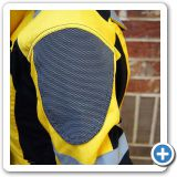 Huge SuperFabric panels on the shoulders for ultimate abrasion resistance